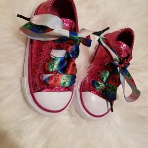 Pink sparkly Converse